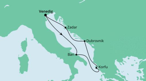 AIDAblu Route: Adria ab Venedig