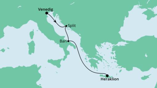 AIDAblu Route: Von Venedig nach Kreta 2