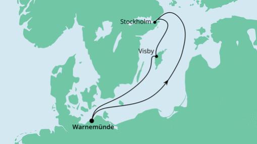 AIDAmar Route: Kurzreise nach Schweden
