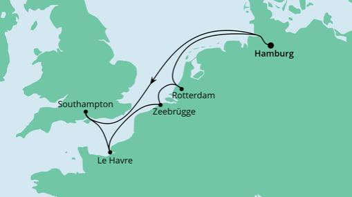 AIDAmar Route: Metropolen