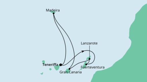 AIDAnova Route: Kanaren & Madeira