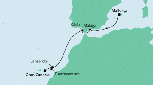 AIDAnova Route: Von Mallorca nach Gran Canaria 3