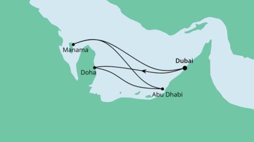 AIDAprima Route: Orient