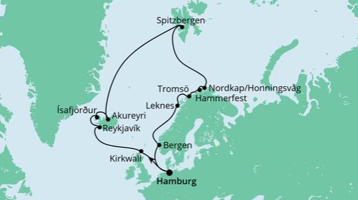 AIDAsol Route: Highlights am Polarkreis 2