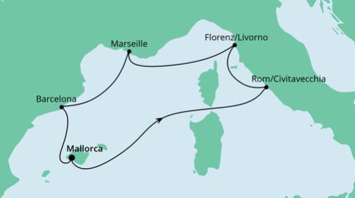 AIDAsol Route: Perlen am Mittelmeer 3