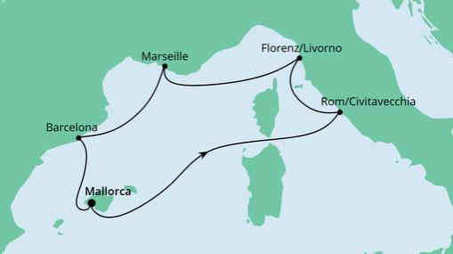 AIDAstella Route: Perlen am Mittelmeer