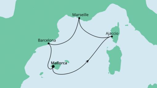 AIDAstella Route: Spanien und Frankreich