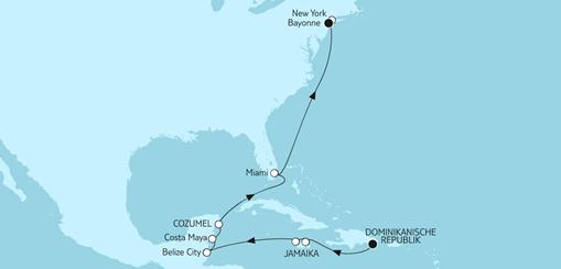 Mein Schiff 1 Route: Dominikanische Republik bis New York