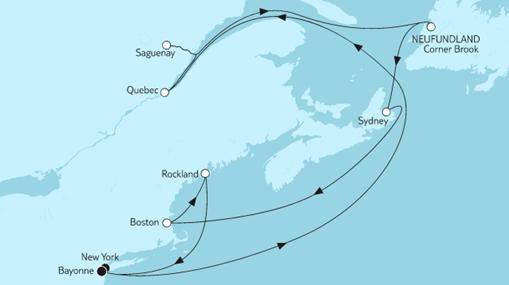 Mein Schiff 1 Route: Neuengland mit Kanada II