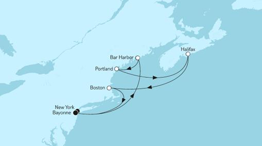 Mein Schiff 1 Route: Neuengland mit Kanada III