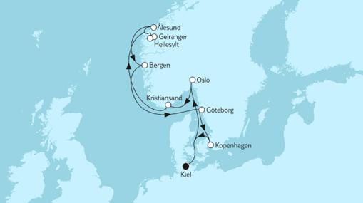 Mein Schiff 1 Route: Norwegen mit Geirangerfjord III